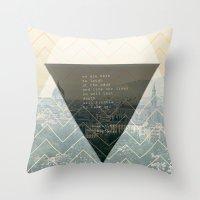 bukowski Throw Pillows featuring bukowski by pixel.pwn | AK