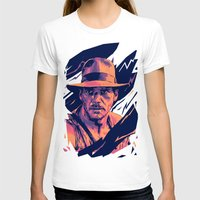 indiana jones T-shirts featuring indiana jones// bad actors v2 by mergedvisible