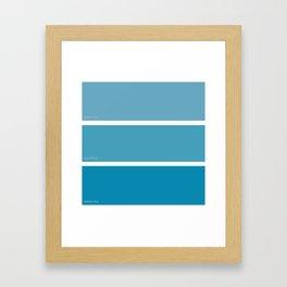 Liquid Blue Framed Art Print