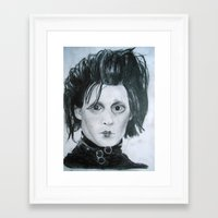 edward scissorhands Framed Art Prints featuring Edward Scissorhands by Jennifer Cooper