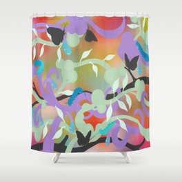 Black Butterflies Shower Curtain