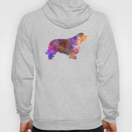 Clumber Spaniel in watercolor Hoody