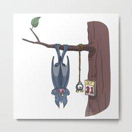 Halloween bat is waiting for October 31st Metal Print