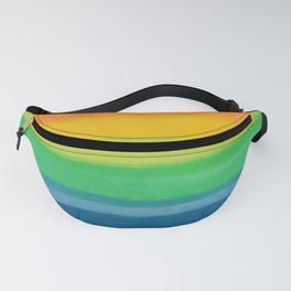 Crayon Box Rainbow Stripes Fanny Pack