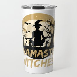 Namaste Witches Yoga Gift For Halloween Travel Mug