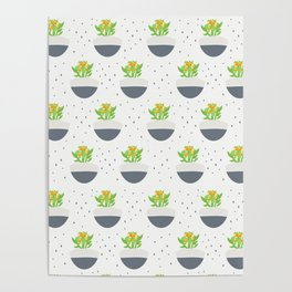 Potted Kalanchoe Plant Mom Pattern Poster