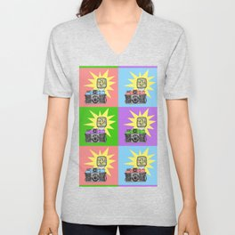 Let's warholize...and say cheese! Unisex V-Neck