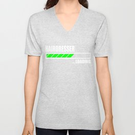 Hairdresser Loading Bar Unisex V-Neck