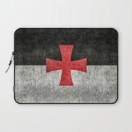 Knights Templar Flag in Super Grunge Laptop Sleeve