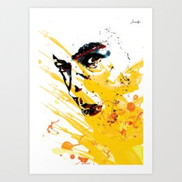 Street art yellow painting colors fashion Jacob's Paris Art Print
