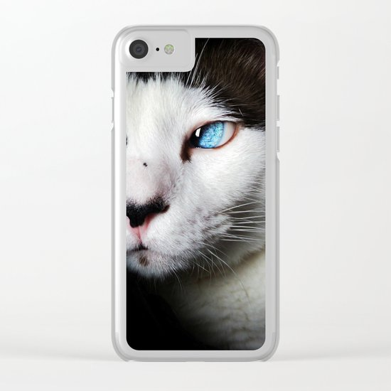 Cat siamese blue eyes Clear iPhone Case
