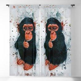 Baby Chimpanzee Blackout Curtain