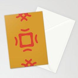 Medallion Mango Mojito & Fiesta Red Stationery Cards
