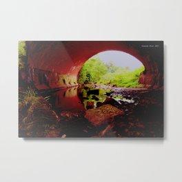 RED UNDER WORLD Metal Print