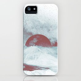 Pink Moon Mountain iPhone Case