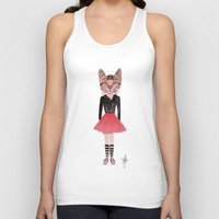kitty Tank Tops featuring Kitty by BTP Designs