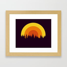 summer mountain Framed Art Print