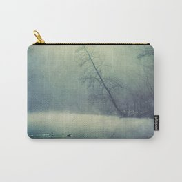 weeping light - river in morning fog Carry-All Pouch