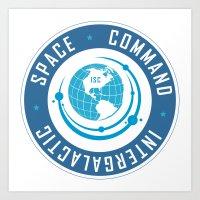 Intergalactic Space Command Logo 2 Art Print