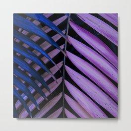 Leaves pink and blue Metal Print