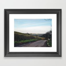 Approaching North Rigton Framed Art Print