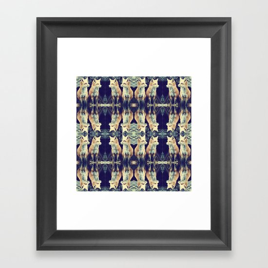 Foxes on Repeat Framed Art Print