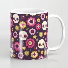 Mexican Sugar Skull Floral Pattern Coffee Mug
