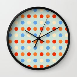 Lohiau - Colorful Abstract Dots Art Wall Clock