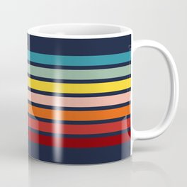 Sanuma - 70s Vintage Style Retro Stripes Coffee Mug