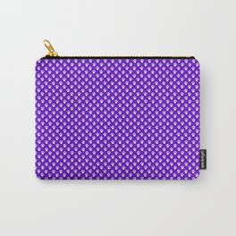 Tiny Paw Prints Pattern Deep Purple and White Carry-All Pouch