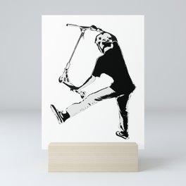 Deck Grabbing - Stunt Scooter Trick Mini Art Print