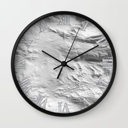 Moon Surface -Grey and White- Wall Clock