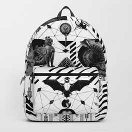 Abstract Skull B&W Backpack