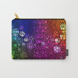 Stone Rock'd Rainbow - Art By Sharon Cummings Carry-All Pouch