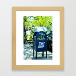 Astoria Mailbox Graffiti Framed Art Print
