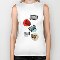 cinema Biker Tanks featuring VINTAGE HOME CINEMA by d.ts