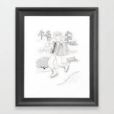 the accordeonist Framed Art Print