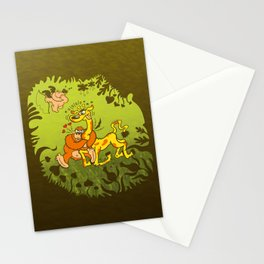 Cupid Having Fun Stationery Cards