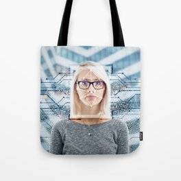 facial recognition Tote Bag