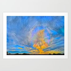 Sun Dogs and Desert Visions I Art Print