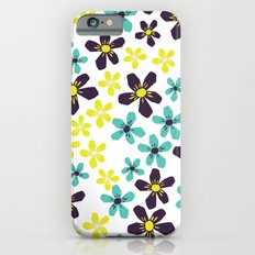 Yellow and Blue Flower Slim Case iPhone 6s