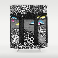 jungle Shower Curtains featuring Jungle by Heiko Windisch