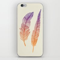feathers iPhone & iPod Skins featuring Feathers by pakowacz