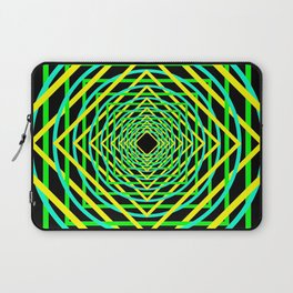 Diamonds in the Rounds Blacklight Neons Yellow Greens Laptop Sleeve