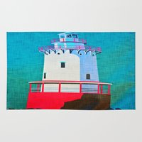 lighthouse Area & Throw Rugs featuring Lighthouse by Judy Palkimas