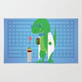 Dinosaur Scientist Rug