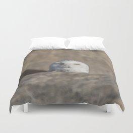 Peekaboo Snowy Owl Duvet Cover