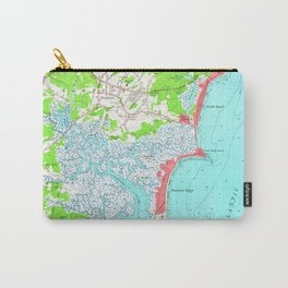 Vintage Map of Hampton Beach New Hampshire (1957) Carry-All Pouch