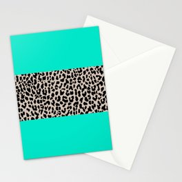Leopard National Flag II Stationery Cards