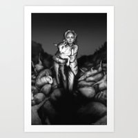 silence of the lambs Art Prints featuring Silence of the Lambs by Ash Merkel